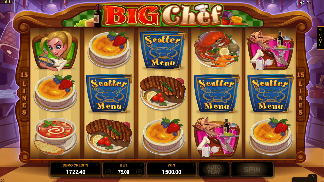 free Big Chef slot bonus feature
