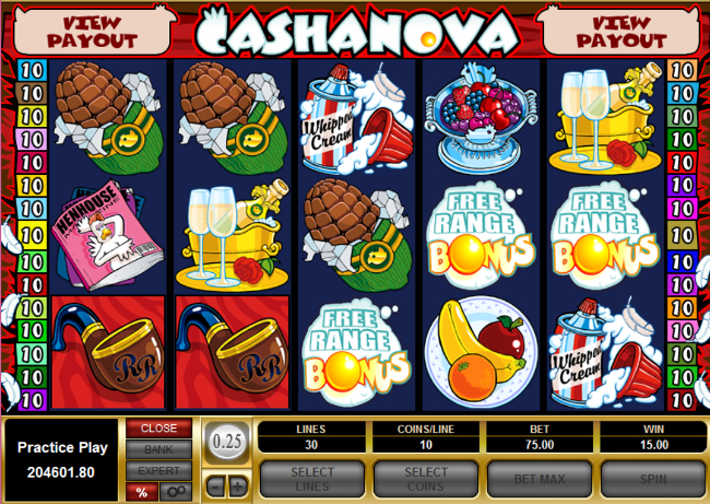 free Cashanova slot bonus feature