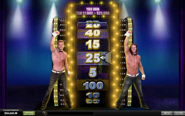 free Chippendales slot bonus feature