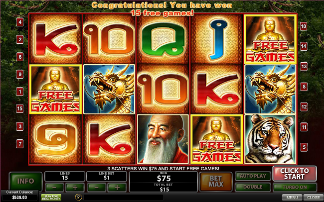 free Thai Temple slot bonus feature