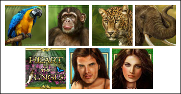 free Heart of the Jungle slot game symbols