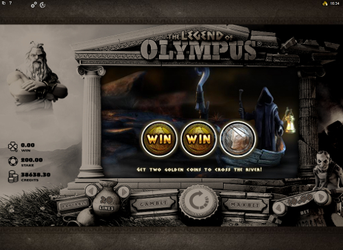 free The Legend of Olympus bonus game