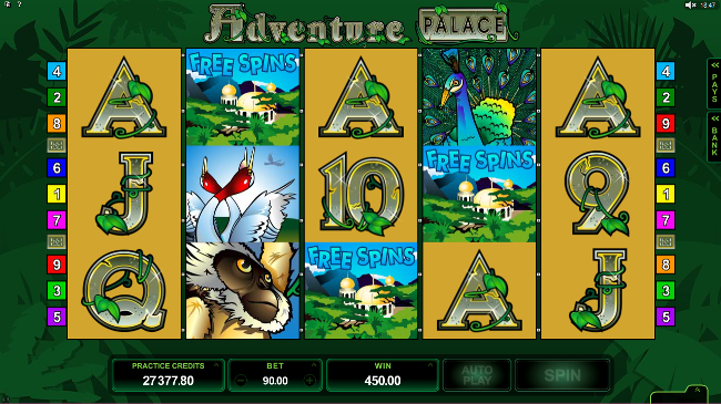 free Adventure Palace HD slot bonus feature