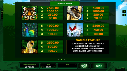 free Adventure Palace HD slot paytable