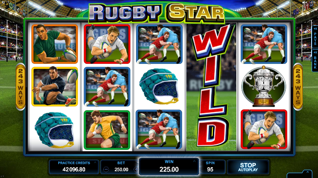 free Rugby Star slot bonus feature