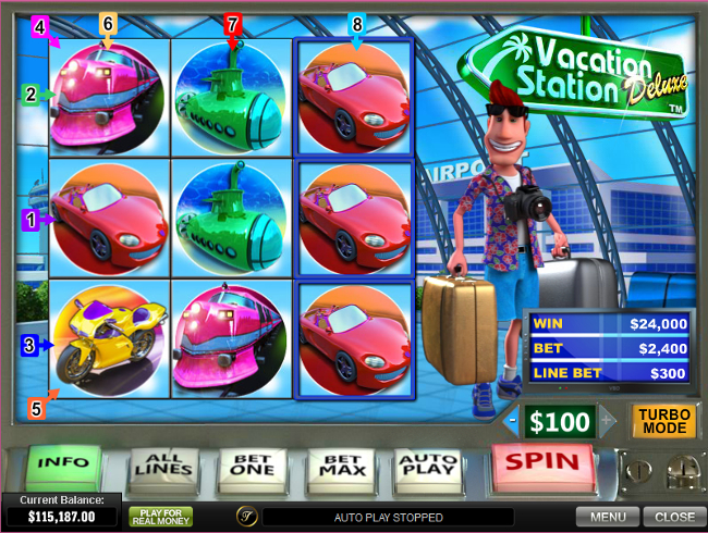free Vacation Station Deluxe slot win