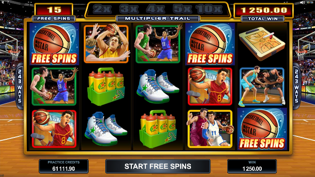 free Basketball Star slot bonus feature