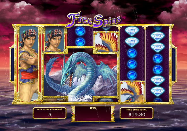 free Sinbad's Golden Voyage slot bonus feature