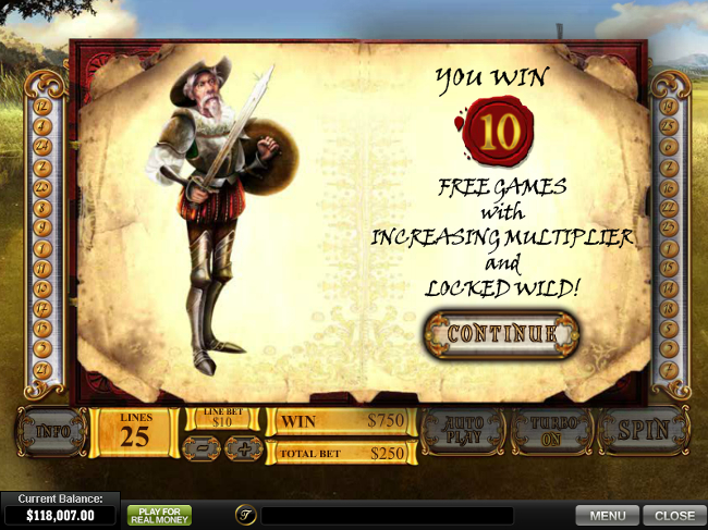 free The Riches of Don Quixote slot bonus feature