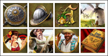 free The Riches of Don Quixote slot game symbols