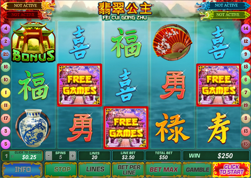 free Fei Cui Gong Zhu free spins feature