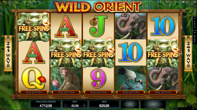 free Wild Orient slot bonus feature