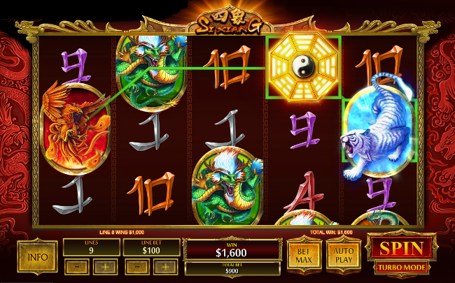 free Si Xiang slot bonus feature