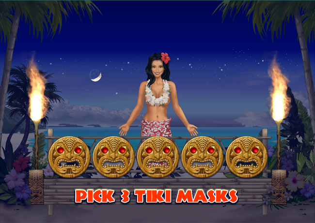 free Hawaiian Treasure slot bonus feature