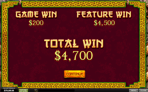 free The Great Ming Empire bonus feature prize