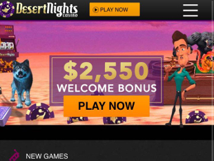 Desert Nights Mobile Casino Home