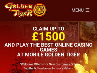 Golden Tiger Mobile Casino Home